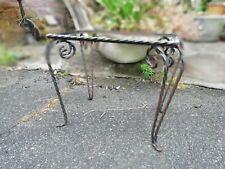 piétement de petite table basse en fer forgé