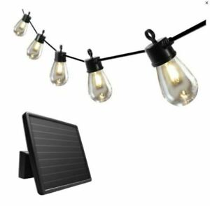 SunForce 1600200 15 LED Bulbs Solar String Light - Black