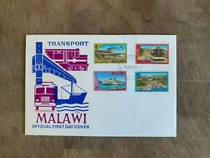 MALAWI 1977 FDC OR USED TRANSPORT BUS SHIP TRAIN AEROPLANE AIRCRAFT VC10