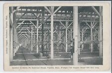 1908 Interior of Santa Fe RR Freight Car Repair Shops, Topeka, Kansas  Postcard