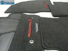 Mazdaspeed3 2010-2013 New OEM black carpeted floor mats with red stitching
