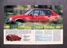 [GCG] AS22 - Clipping-Ritaglio -1984- PROVA SU STRADA , CITROEN VISA DIESEL RD