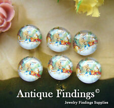 10PCS 12mm Handmade Alice In Wonderland Glass Dome Cabochon Cameo Cabs BCH141J