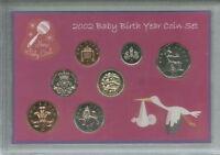 New Born Baby Girl Coin Gift Set 2002 (Parent Mum & Dad Birth Keepsake Present)