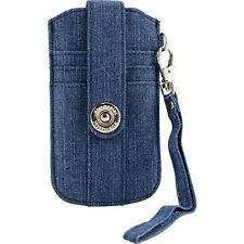 XtremeMac Phone & Credit Card Wristlet Case For iPhone 5/5S/5C - Blue Jean Denim