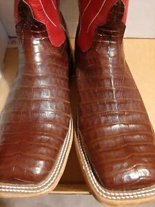 Anderson bean  Men's  Caiman Belly  Western Boots