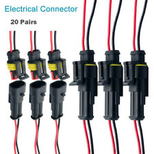 20 Pair Waterproof 12V 2-pin Electrical Wire Connector Plug Cable for Boat SU