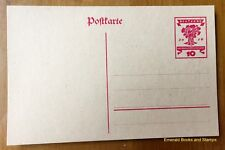 EBS Germany 1919 Postal Card National Assembly - Nationalversammlung Weimar P115