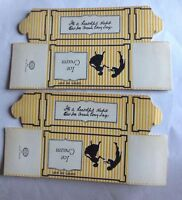 VINTAGE YELLOW STRIPE ICE CREAM ONE QUART BOX NEW OLD STOCK 2 BOXES