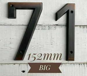 Big House Number Address Sign 0-9 Zinc Alloy 152mm 6inch Decoration Anti Rust