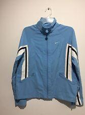 Nike Boys Medium (8-10) Jacket Light Blue Full Zip Windbreaker Unique Rare VTG