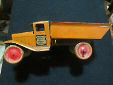 BUDDY L PRESSED STEEL SMALL DUMP TRUCK OWNER WORKED FOR THE MICHIGAN HWY DEPT..