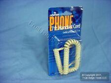 Leviton Ivory 7 Ft Telephone Handset Cord Modular Phone Coil C2407-7I