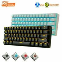 RK61 Wireless Bluetooth Wired Mechanical Keypad LED Backlight Gaming Keyboard