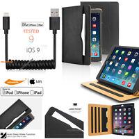 ipad leather case for iPad 2 3 4/ Air/ Mini/Pro  Auto Wake/Sleep Smart+Lightning