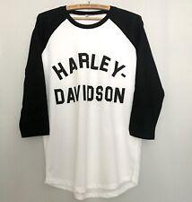 Harley Davidson Raglan Baseball Sleeve T Shirt Flat Tracker Moto X Retro Vintage