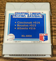 1988 PARKER BROTHERS STARTING LINEUP TALKING BASEBALL CARTRIDGE REDS, BRAVES
