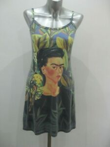 BAM BAM Multicolured Polynesian Picture Print Distressed Mini Dress  ~ M