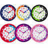 Tikkers Silent Sweep Seconds Precision Movement Time Teacher Kids Wall Clock