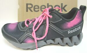 Reebok Size 6 Zigtech Pink Leather Sneakers New Girls Shoes