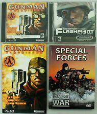 Vintage Gunman Chronicles Manual Operation Flashpoint Special Forces PC Game Lot