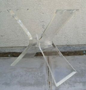 Mid Century Modern Lucite Regency Dining Or Sofa Table Base