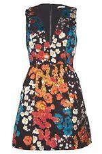 Alice + Olivia Patty Lantern V Neck Mini Dress Floral Field Burnout Size 8 NWOT