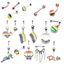 Body jewellery Gay Pride Belly Tongue Labret Eyebrow Nipple Piercing bars
