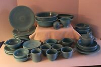 Vintage fiesta Ware-Homer Laughlin-Turquoise-55 pcs inc Disk Water & Ice Lip