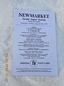 NEWMARKET RACECARD   27 AUGUST 1976