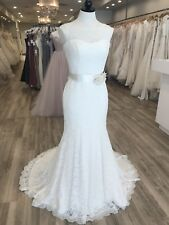 Mikaella Wedding Gown #1802 Natural/Pearl Size 10 Lace High Neck