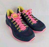 Nike Lunarglide 4 Women's 8 Running Shoes Blue Gray/Pink/Yellow 524978-400