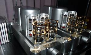 Audiophile Vacuum Valve Tube Mono Block Amplifier. Upgrade Germany GAD Capacitor
