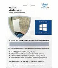 McAfee ANTIVIRUS 20 2020 1 PC 1 Year Subscription Activation Card
