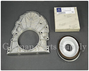 -04Mercedes benz ENGINE CRANKSHAFT REAR COVER & SEAL OE Genuine Germany