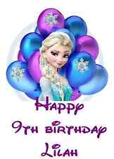 "Personalized Frozen Elsa Birthday Iron On Transfer 5""x7"" for LIGHT Color Fabrics"