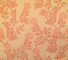 COWTAN & TOUT Jane Churchill Juliette Red Floral Linen Remnant New