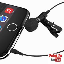 Lavalier Condenser Wired Microphone for iPhone, Samsung, Android, IOS,Smartphone