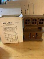 NIB VTG MSR Mini Land Miniature new England hutch Dollhouse Furniture Wood DH1