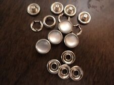 """4-PT POLY PEARL SNAPS-WHITE-SILVER RIM-SIZE 18-7/16""""-1 GROSS MADE IN USA"""