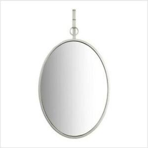 "Medium Oval Silver Antiqued Classic Mirror 25""H x 16""W EC0289 by Creativeco-op"