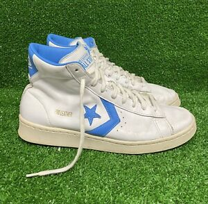 Converse Pro Leather Hi Top Leather White/Coast Blue 166813C Carolina Blue Mens
