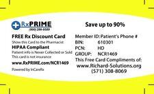 Rx Discount card Goodrx cvs walgreens giant safeway