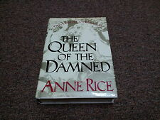 ANNE RICE, DUSTJACKET THE QUEEN OF THE DAMNED, MARKED PRINTED IN U. S. A. © 1988
