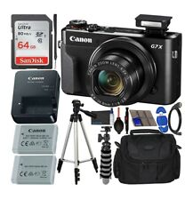 Canon PowerShot G7 X Mark II Digital Camera (Black) with Accessory Bundle - Incl