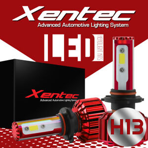 2x Xentec H13 9008 LED Headlight Conversion Kit Hi Low Beam Lamp 6000K 7600LM