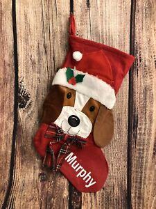 Pet Personalized DOG Puppy Christmas Stocking Animals Custom Stocking Free Ship