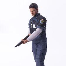 "1/6 Scale Resident Evil Leon Suit Coat Shirt Pants For 12"" Action Figure Body"