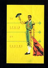 SABENA - To Spain - 11cm - étiquette valise - Luggage Label