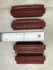 Brick Red Bicycle 4 Pedal Blocks Majestic 3-16 SCHWINN ELGIN SHELBY FOX GRIP